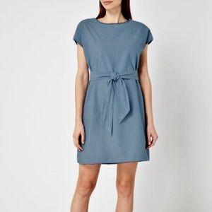 Vero Moda Chambray Tie Waist Dress